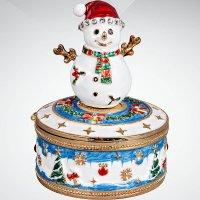 """Шкатулка """"снеговик"""", 8 см, Mister Christmas"""
