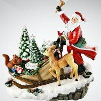 """Композиция музыкальная """"дед мороз в санях"""", Mister Christmas"""