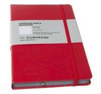 Записная книжка на резинке, клетка, 120 листов, Silwerhof
