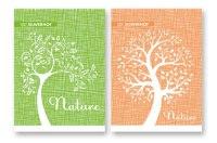 """Блокнот на гребне """"рисованные деревья"""", 80 листов, клетка, Silwerhof"""
