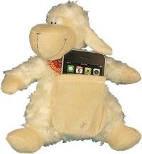 """Держатель для телефона - игрушка мягкая """"веселая овечка"""", 23 см, Coool Toys"""