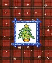 """Сумка с окошком, матовая ламинированная """"елка"""", 11,1x13,7x6,2 см, WINTER WINGS"""