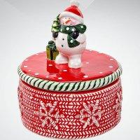 "Шкатулка ""снеговик"", 8 см; цвет: красный, Mister Christmas"