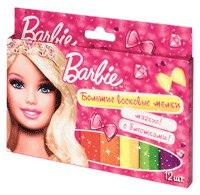 "Мелки восковые """", 12 штук, Barbie"