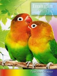 """Престиж-блокнот """"маленькие попугаи"""", а6, 128 листов, клетка, Plano"""