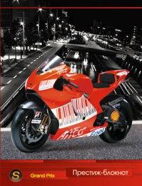 """Престиж-блокнот """"красный мотоцикл"""", а6, 128 листов, клетка, Plano"""