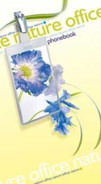 """Телефонная книжка на гребне """"офис голубой"""", а5, 80 листов, линия, Plano"""