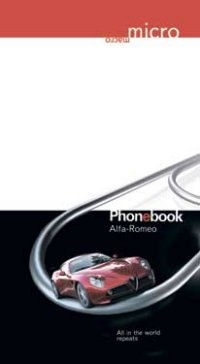 "Телефонная книжка на гребне ""alfa romeo"", а5, 80 листов, линия, Plano"
