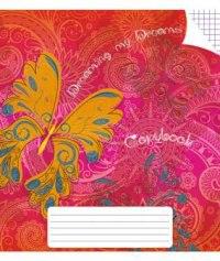 """Тетрадь """"розовые бабочки"""", 18 листов, клетка (20 штук), КТС-про"""