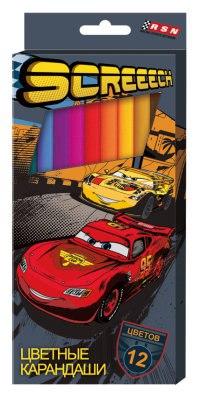 """Цветные карандаши """"disney. тачки"""", 12 цветов, 12 штук, Disney (Дисней)"""