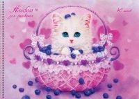 """Альбом для рисования """"kayomi angel. котенок с черникой"""", 40 листов, Канц-Эксмо (Listoff, Unnika Land)"""