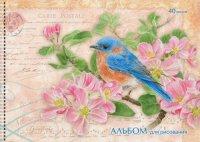 """Альбом для рисования """"jane shasky. синяя птица"""", 40 листов, Канц-Эксмо (Listoff, Unnika Land)"""