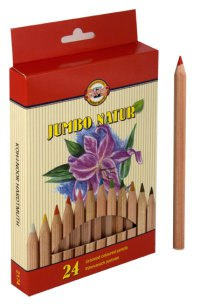 "Карандаши цветные ""jumbo natur"", 24 цвета, 24 штуки, Koh-I-Noor"