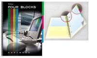 "Тетрадь на спирали ""four blocks-компьютер"", 160 листов, а4, клетка, Berlingo"