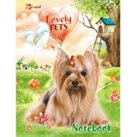 """Книга для записей """"lovely pets (домашние любимцы)"""", а6, 96 листов, Канц-Эксмо (Listoff, Unnika Land)"""