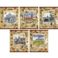 """Тетрадь """"путешствие вокруг света"""", 48 листов, а5, Канц-Эксмо (Listoff, Unnika Land)"""