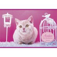 """Альбом для рисования """"котенок на розовом"""", 20 листов, Канц-Эксмо (Listoff, Unnika Land)"""
