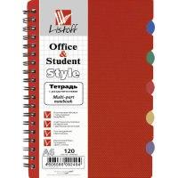 Тетрадь с пластиковой обложкой а6, темно-красная, 120 листов, Канц-Эксмо (Listoff, Unnika Land)