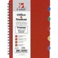 Тетрадь с пластиковой обложкой а5, темно-красная, 120 листов, Канц-Эксмо (Listoff, Unnika Land)