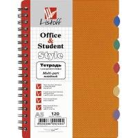 Тетрадь с пластиковой обложкой а5, оранжевая, 120 листов, Канц-Эксмо (Listoff, Unnika Land)