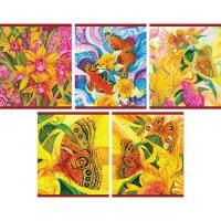 """Тетрадь """"яркие бабочки"""", а5, 96 листов, клетка, Канц-Эксмо (Listoff, Unnika Land)"""