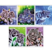 """Тетрадь """"the art of kentaro nishino. белые тигры"""", а5, 48 листов, клетка, Канц-Эксмо (Listoff, Unnika Land)"""