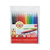 """Фломастеры """"brush"""", 12 цветов, смываемые, Koh-I-Noor"""