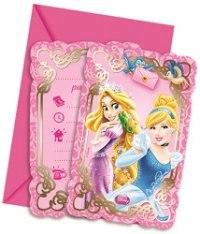 """Приглашения в конвертах """"принцессы и животные"""", 6 штук, Procos S.A."""