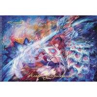 """Альбом для рисования """"фея и птица феникс"""", 40 листов, Канц-Эксмо (Listoff, Unnika Land)"""