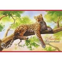 """Альбом для рисования """"леопард на дереве"""", 40 листов, Канц-Эксмо (Listoff, Unnika Land)"""