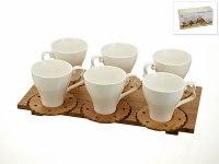 """Чайный набор, 12 предметов """"naturel"""" на бамбуковой подставке, 160 мл, Best Home Porcelain"""