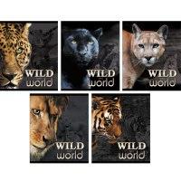 """Тетрадь """"дикие кошки (wild world)"""", а5, 48 листов, клетка, Канц-Эксмо (Listoff, Unnika Land)"""