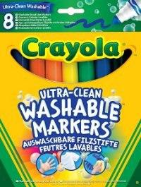 """Смываемые фломастеры """"супер чисто"""" с толстым наконечником, 8 штук, Crayola"""