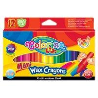 "Мелки восковые ""maxi wax"", 12 цветов, Colorino"