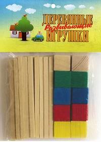Счетный материал. 24 палочки + 10 кубиков, Анданте