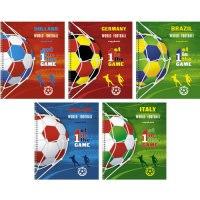 """Тетрадь """"мировой футбол (графика)"""", а5, 80 листов, клетка, Канц-Эксмо (Listoff, Unnika Land)"""