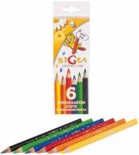 """Цветные карандаши """"bigba"""", утолщенный корпуc, 6 цветов, Cretacolor"""