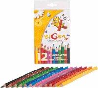 """Цветные карандаши """"bigba"""", утолщенный корпуc, 12 цветов, Cretacolor"""