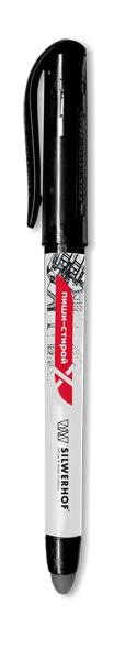 """Ручка гелевая """"пиши-стирай"""", с ластиком, 0,5 мм, черная, европодвес, Silwerhof"""