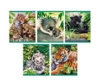 """Тетрадь общая """"мир диких животных"""", а5, 48 листов, клетка, Канц-Эксмо (Listoff, Unnika Land)"""