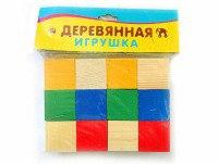 """Деревянная игрушка """"набор кубиков"""", 12 элементов, Проф-Пресс"""