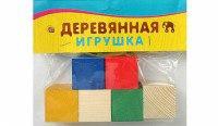 """Деревянная игрушка """"набор кубиков"""", 6 элементов, Проф-Пресс"""