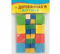 """Деревянная игрушка """"счётный материал"""". набор кубиков, 40 элементов, Проф-Пресс"""