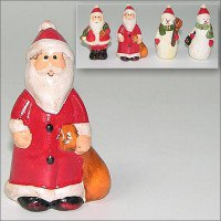 """Фигурки """"дед мороз, снеговик"""" 6,5 см, керамика (арт. ob2-245), Мультидом Трейдинг"""