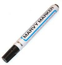 """Маркер перманентный """"mar411/1"""", со скошенным наконечником, 1-5 мм, черный, MARVY"""