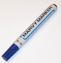 """Маркер перманентный """"mar411/3"""", со скошенным наконечником, 1-5 мм, синий, MARVY"""