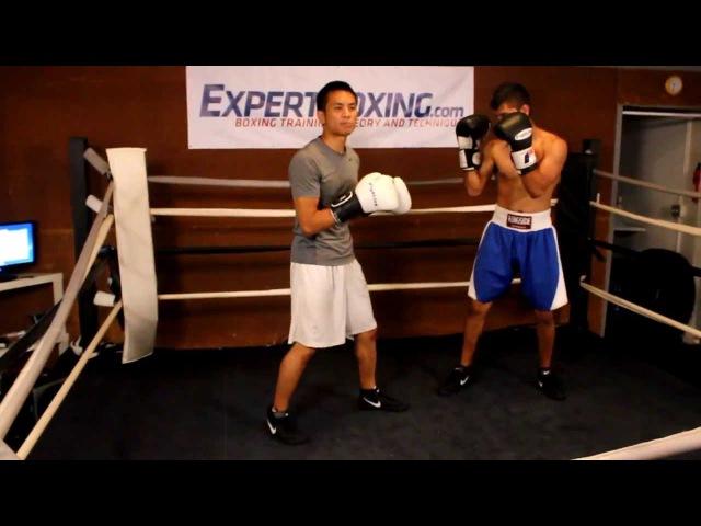 Как Боксировать с Левшой 1 из 3 - Заступаем Передней Ногой