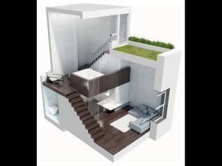 Квартира-студия 24м2, в которой разместилось все! Оптимизация пространства в инте...