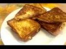 Тосты с ветчиной и сыром, быстрая и вкусная закуска | tetchinoy toast and cheese