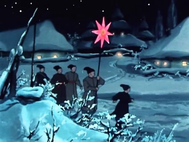 Старые советские мультфильмы Ночь перед Рождеством. Оld cartoons The Night Before Christmas .